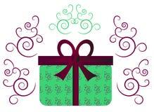 Groene gift met lint Stock Fotografie