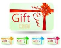 Groene giftkaart Royalty-vrije Stock Foto's