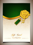 Groene giftkaart Stock Afbeelding