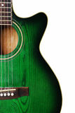 Groene gitaar Royalty-vrije Stock Afbeelding