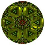 Groene glanzende orb of knoop royalty-vrije illustratie
