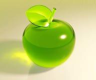 Groene glasappel Royalty-vrije Stock Afbeelding
