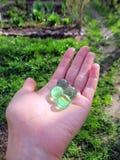 Groene glasballen Royalty-vrije Stock Afbeeldingen