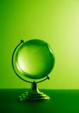 Groene glasbol Royalty-vrije Stock Afbeeldingen