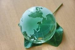 Groene glasbol. (Oost-Azië) Stock Fotografie