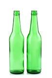 Groene glasflessen Stock Afbeeldingen
