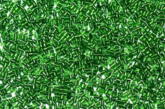 Groene glasparels Stock Afbeelding