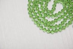 Groene glasparels Royalty-vrije Stock Foto