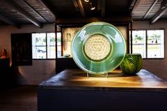 Groene glasplaat Stock Foto