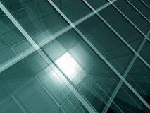 Groene glasruimte stock illustratie