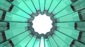 Groene Glastunnel Stock Foto