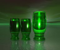 Groene Glazen Royalty-vrije Stock Afbeelding