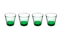 Groene glazen Stock Foto's
