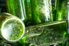 Groene glazen Stock Afbeeldingen