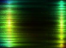 Groene gloeiende lichten vector abstracte achtergrond royalty-vrije stock foto's