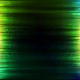 Groene gloeiende lichten vector abstracte achtergrond Stock Foto