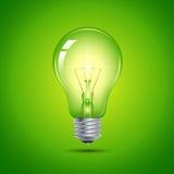Groene Gloeilamp Stock Afbeeldingen