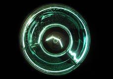 Groene gloeilamp Stock Foto
