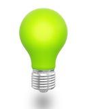 Groene gloeilamp vector illustratie