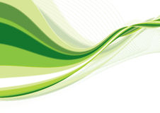 Groene golf Stock Afbeelding
