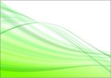 Groene golf abstracte vector Royalty-vrije Stock Foto's