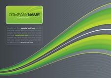 Groene golf op grijs Royalty-vrije Stock Afbeelding
