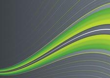 Groene golf op grijs Royalty-vrije Stock Afbeeldingen