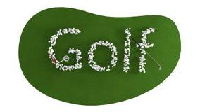 Groene golfcursus Golfconcept isoleer vector illustratie