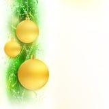 Groene gouden golvende grens met snuisterijen Royalty-vrije Stock Afbeelding