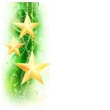 Groene gouden stergrens Royalty-vrije Stock Afbeeldingen