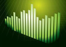 Groene grafiek Royalty-vrije Stock Foto's