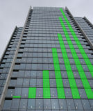 Groene grafiekwolkenkrabber Royalty-vrije Stock Afbeeldingen