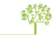 Groene grafische boom Stock Afbeelding