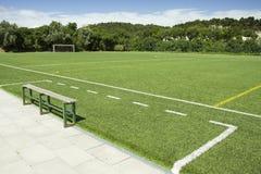 Groene gras en sport geschilderde lijnen royalty-vrije stock foto