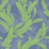 Groene gras naadloze vector als achtergrond Stock Fotografie