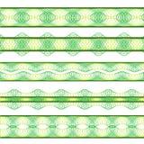 Groene grenzen Royalty-vrije Stock Afbeeldingen