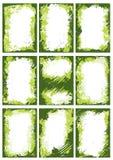 Groene grenzen of frames royalty-vrije illustratie