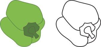 Groene Groene paprika Royalty-vrije Stock Afbeelding