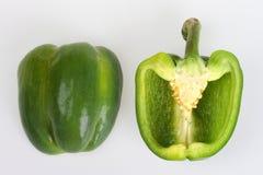 Gesneden groene paprika Royalty-vrije Stock Afbeelding