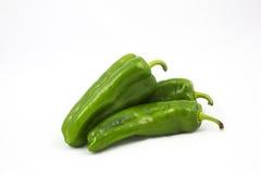 Groene groene paprika drie royalty-vrije stock afbeeldingen