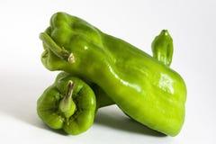 Groene groene paprika's Royalty-vrije Stock Fotografie