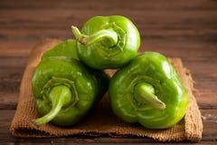 Groene Groene paprika's Royalty-vrije Stock Foto's