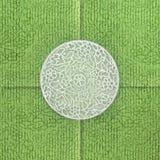 Groene groetkaart Stock Afbeelding