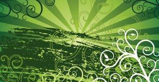 Groene grungeachtergrond Stock Afbeelding