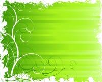 Groene grungeachtergrond Stock Foto