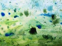 Groene grungedocument achtergrond Stock Afbeelding