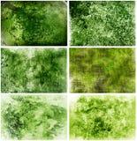 Groene Grungy Achtergronden Stock Foto