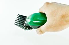 Groene Haarclipper stock afbeelding