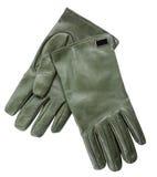 Groene handschoenen Royalty-vrije Stock Afbeeldingen