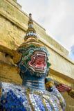 Groene Hanuman droeg de grote pagode Stock Foto's